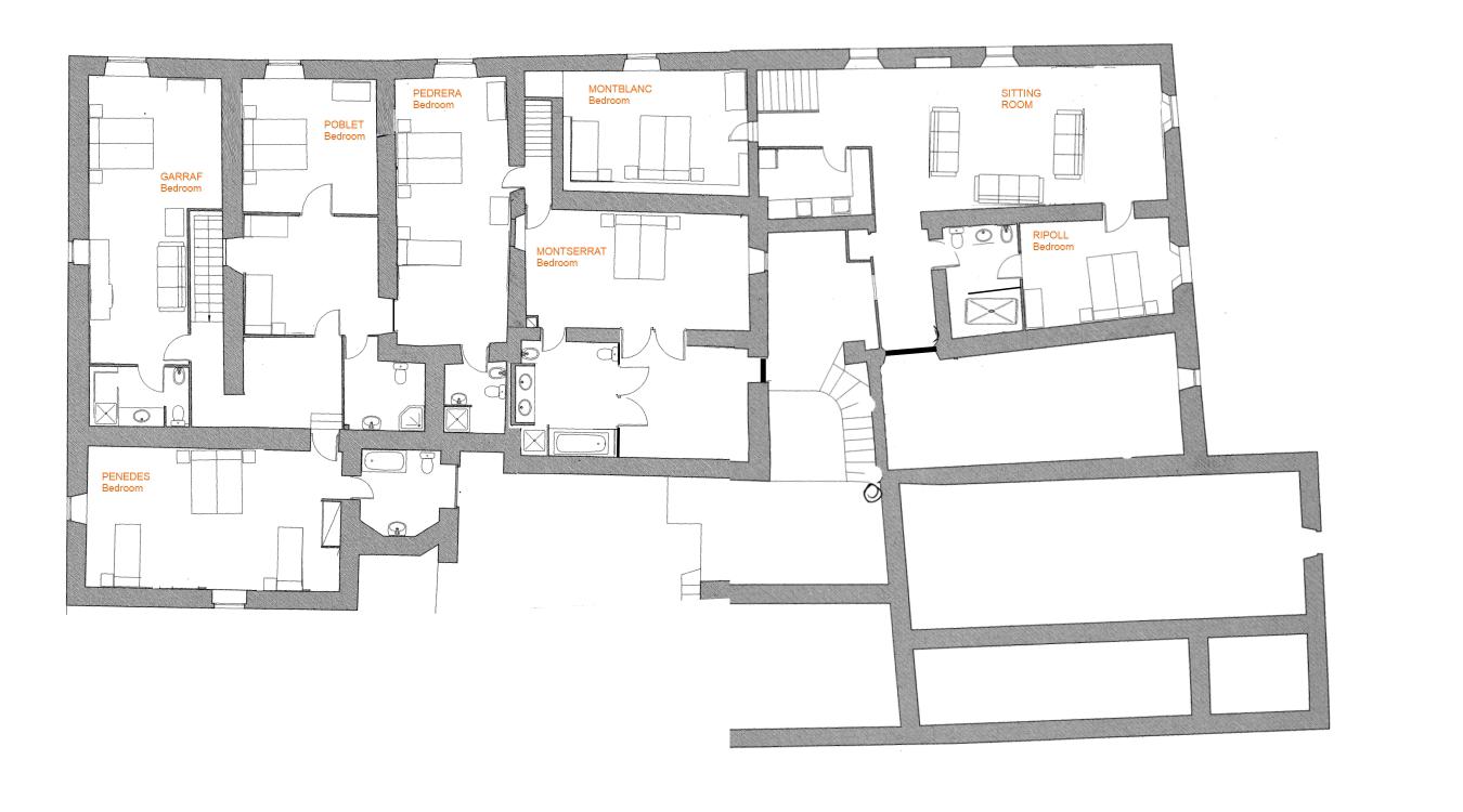 Barcelona Villa Rent Floor Plan 2