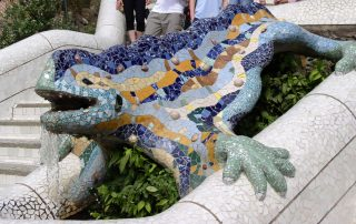 Large Barcelona Villa Rent gaudi lizard