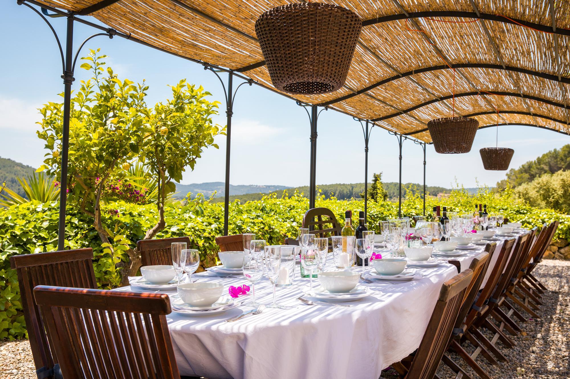 Large Barcelona Villa Dining Area