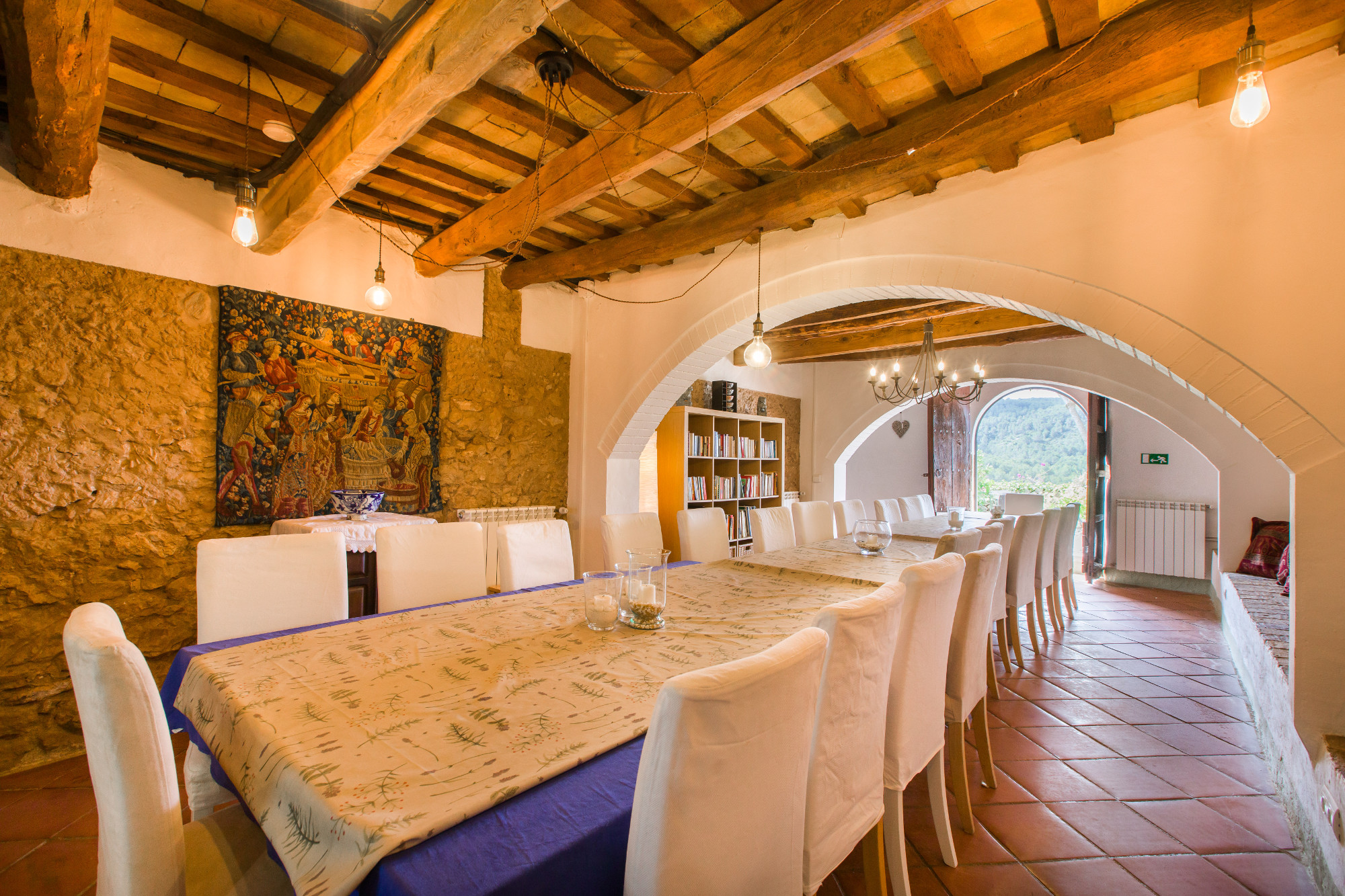 Corporate retreat barcelona break away GH dining room
