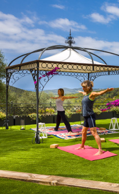 large barcelona villa rent garden yoga