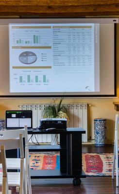 large barcelona villa rent projector screen