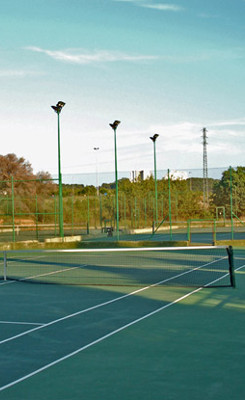 large barcelona villa rent tennis